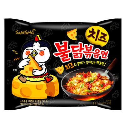 บะหมี่กึ่งสำเร็จรูป/บะหมี่แห้ง Samyang Ramen รส Cheese hot chicken ขนาด140กรัม X 15ซอง