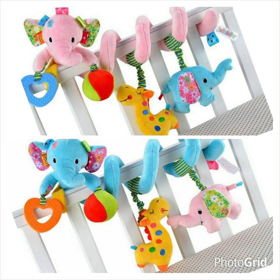 ตุ๊กตาโมบายแขวนขอบเตียงรูปช้าง