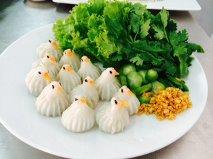 ขนมจีบนก (Steamed dumpling in bird - Shaped)