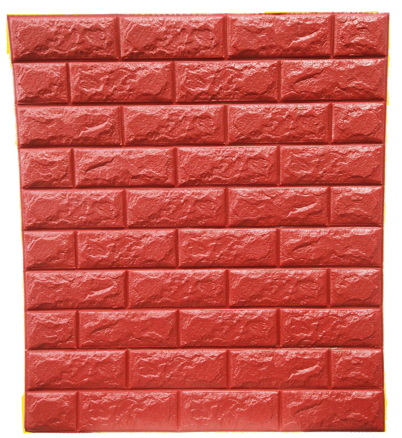 วอลเปเปอร์ 3 มิติ สีแดง cherry