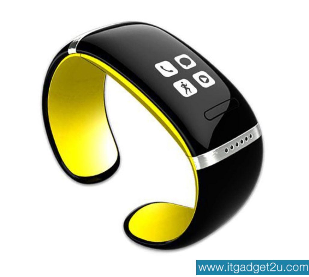 นาฬิกาโทรศัพท์ Bluetooth Smart Watch รุ่น L12S Bracelet Wrist สีเหลือง ปกติราคา 2,450 ลดเหลือ 1,490 บาท