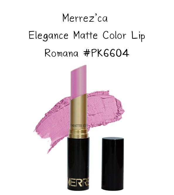 Merrez'Ca Elegance Matte Color Lip #PK6604 Romana