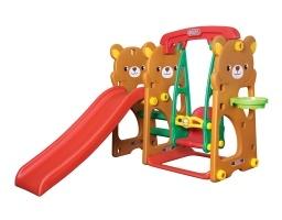 ชิงช้าสไลด์ Teddy Bear สีส้ม