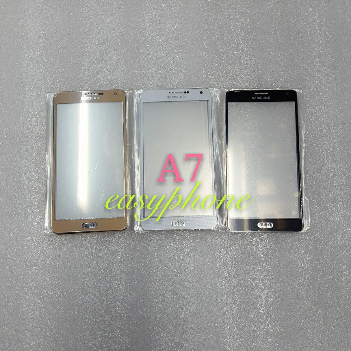 แผ่นกระจกหน้าจอ Galaxy A7 สีขาว//สีดำ//สีทอง