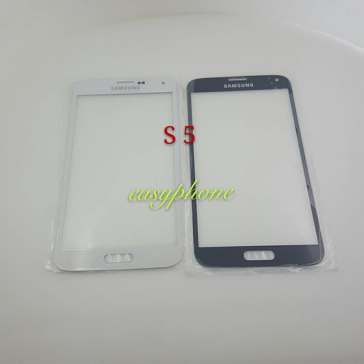 แผ่นกระจกหน้าจอ Galaxy S5 (i9600) สีขาว//สีดำ//สีทอง