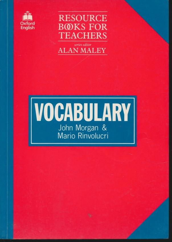 RESOURCE BOOKS FOR TEACHERS VOCABULARY