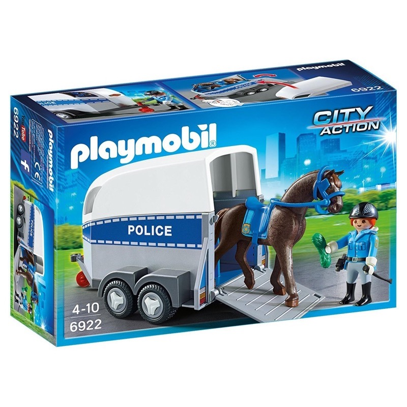 PLAYMOBIL 6922 Police with Horse and Trailer
