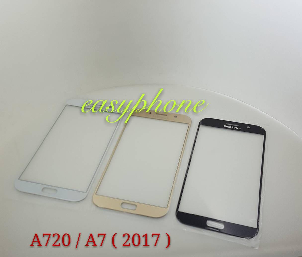 กระจก Samsung A720 / A7 2017 // มีสีขาว,สีดำ、สีทอง