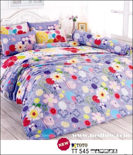 totoชุดเครื่องนอน ผ้าปูที่นอน ลายน่ารัก TT545