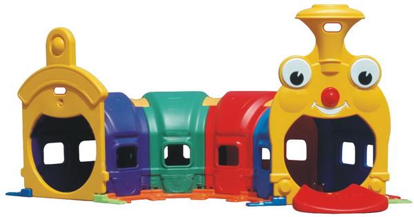 ของเล่นพลาสติกอุโมงค์รถไฟผจญภัย