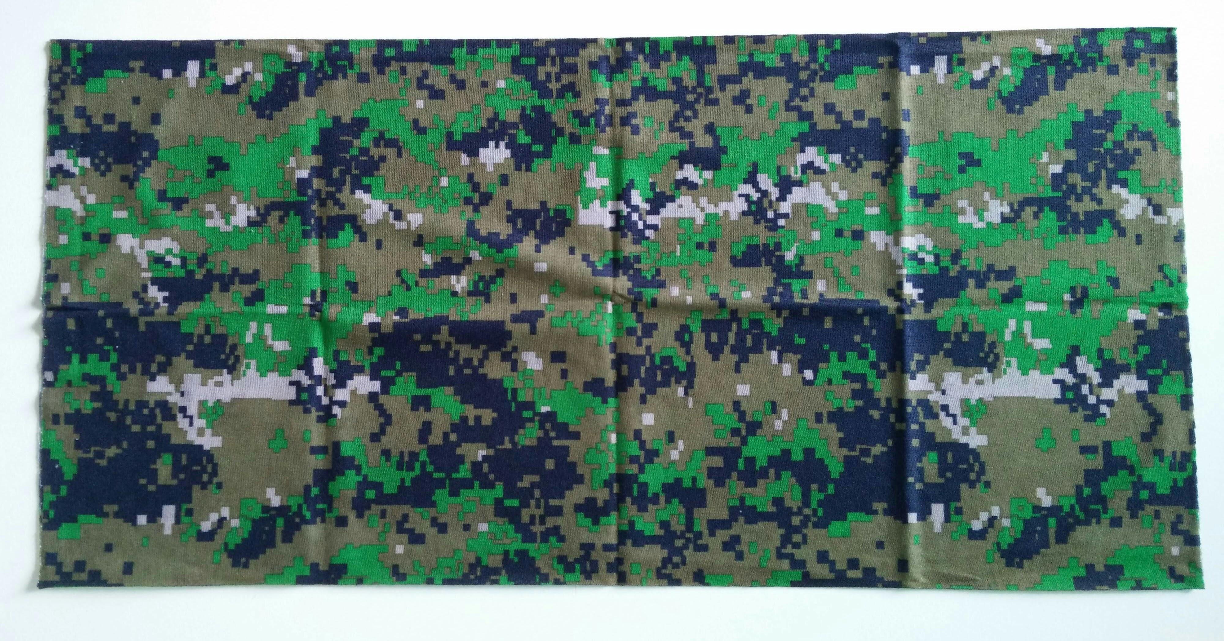 ผ้าบัฟ ลายแผนที่ สีเขียวอ่อน