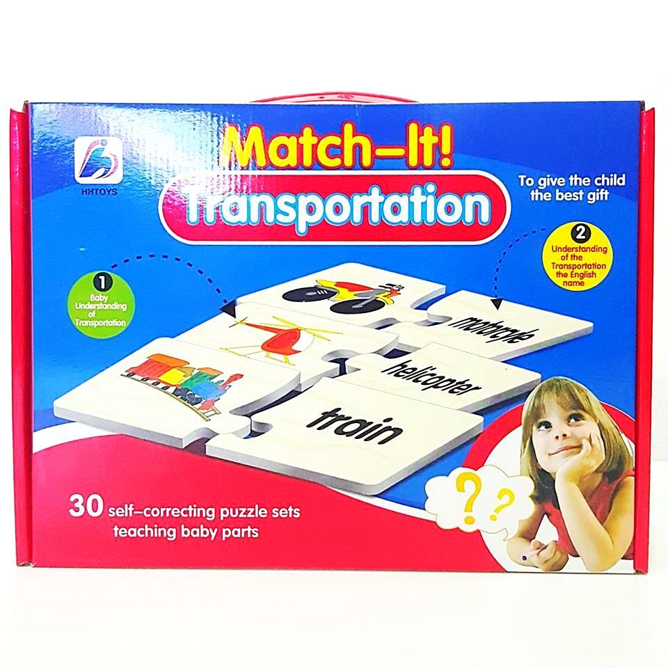 Match it Transportation เรียนรู้ศัพท์ภาษาอังกฤษ เกี่ยวกับยานพาหนะต่างๆ