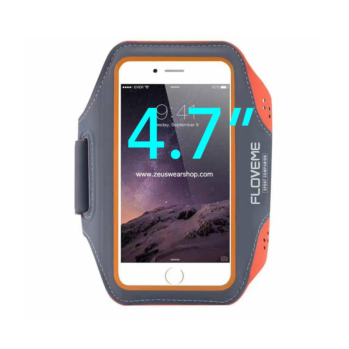 สายรัดแขนวิ่ง สีส้ม Armband ใส่โทรศัพท์หน้าจอ 4.7 นิ้ว