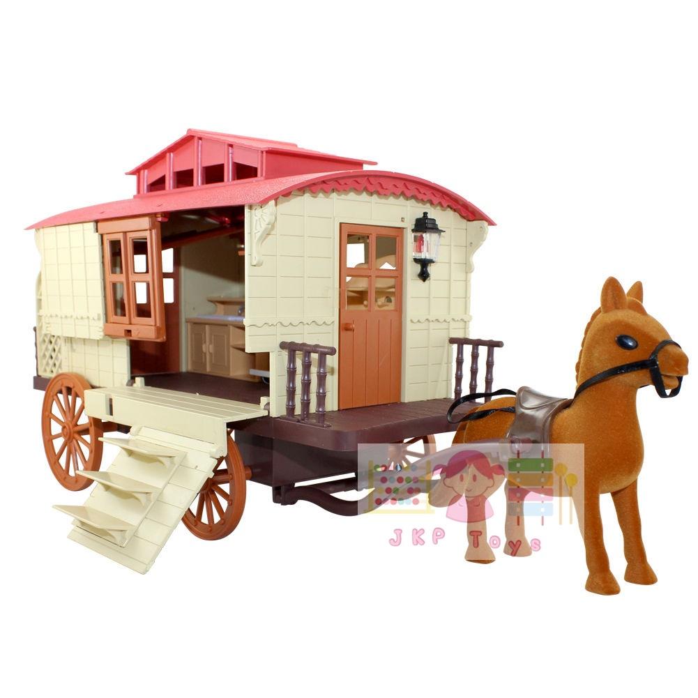 ชุดบ้านตุ๊กตาหมีรถม้า Sweet Family