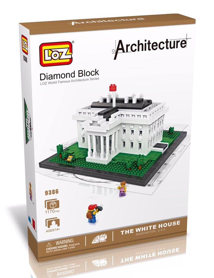 9386 ตัวต่อจิ๋ว The White House ทำเนียบขาว วอชิงตัน ดี.ซี. พร้อม Mini Figures 2 ตัว