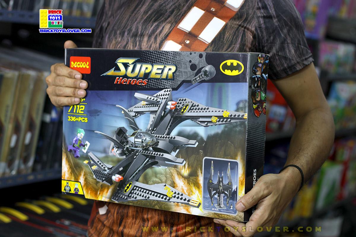 7112 ตัวต่อเลโก้จีน Bat Wing เครื่องบินแบทแมนกับวายร้ายโจ๊กเกอร์