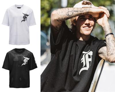เสื้อแขนสั้น Justin Bieber ดีไซน์โลโก้ มี2สี