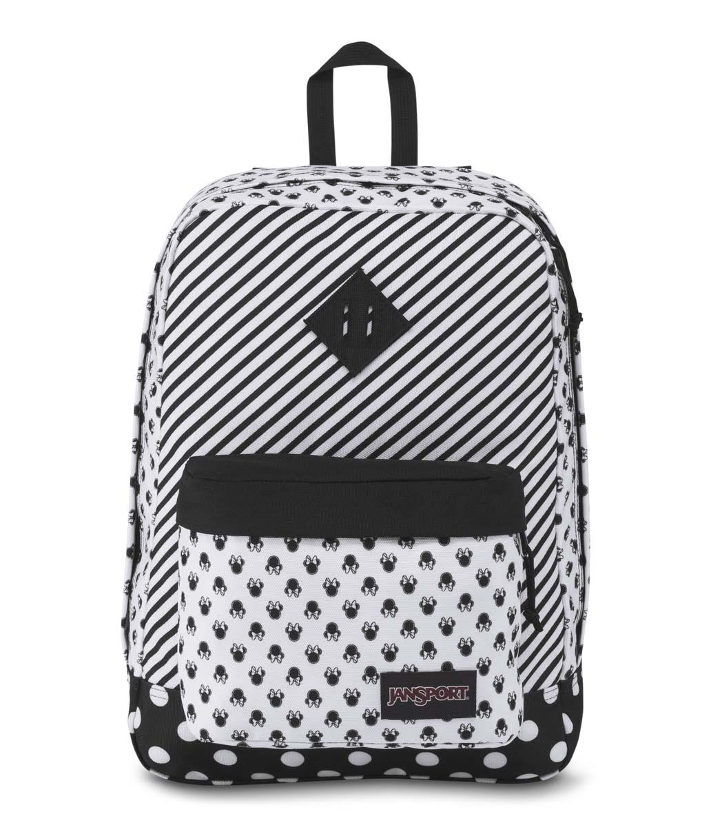 JanSport กระเป๋าเป้ รุ่น Super FX - Disney Minnie White Bow Dot