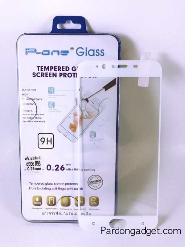 ฟิล์มกระจกเต็มจอ Oppo R9S สีขาว