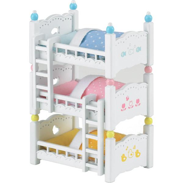 ซิลวาเนียน เตียงเบบี้แฝดสาม (EU) Sylvanian Families Triplet Babies Bunk Bed
