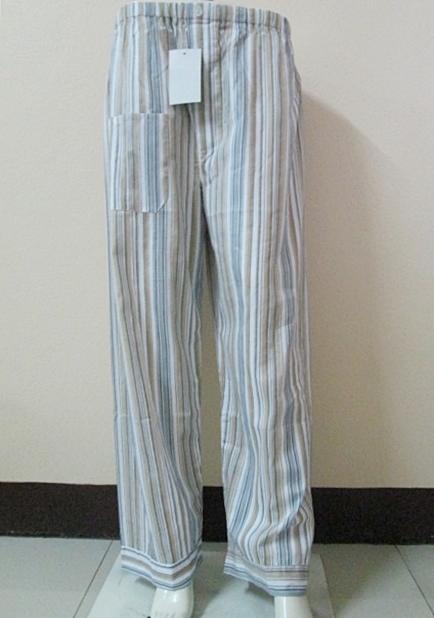 กางเกงนอนขายาว(ชาย) ผ้าคัตตอน เกรด เอ แบบลาย โทนสีน้ำตาล ไซส์ XL