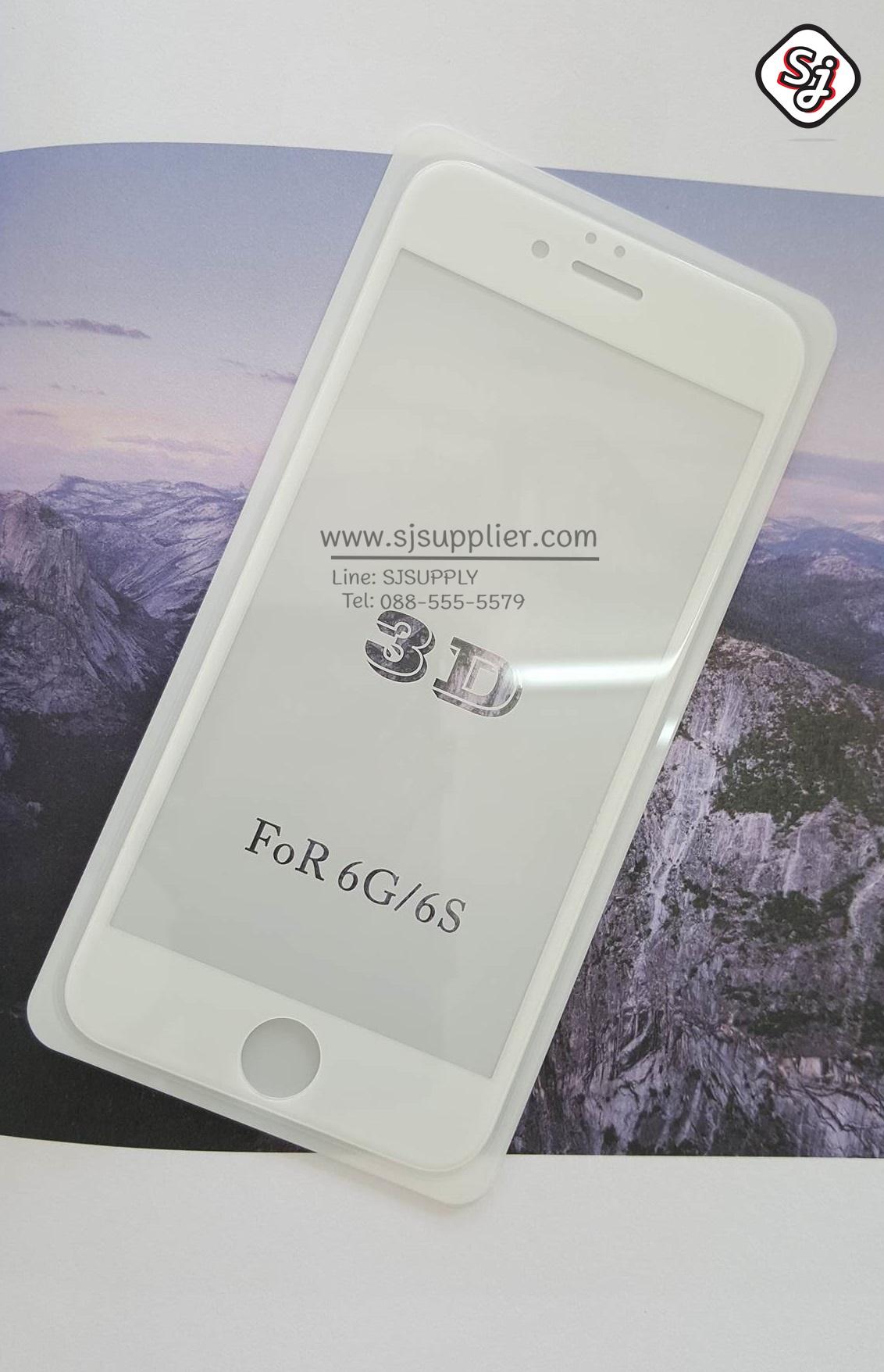 ฟิล์มกระจก iPhone 6 (เต็มจอ 4D) Original สีขาว