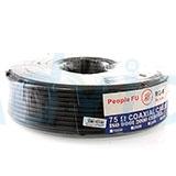 Cable 100M RG6/64 PeopleFu (Black)
