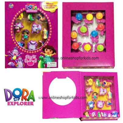 หนังสือภาษาอังกฤษ Dora the Explorer Stuck on Stories Activity Play Set