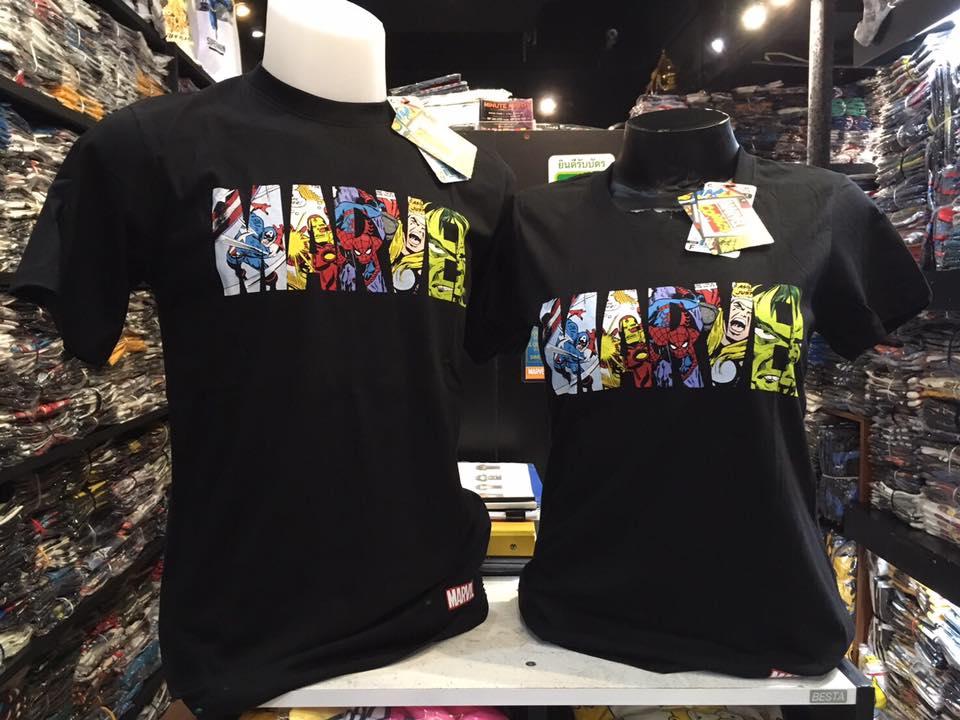 ฮีโร่มาร์เวล สีดำ (Marvel logo heros CODE : 1236)
