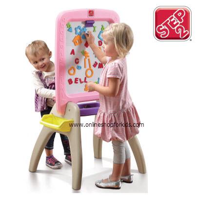 กระดานกิจกรรม Step2 All Around Easel For Two, Pink