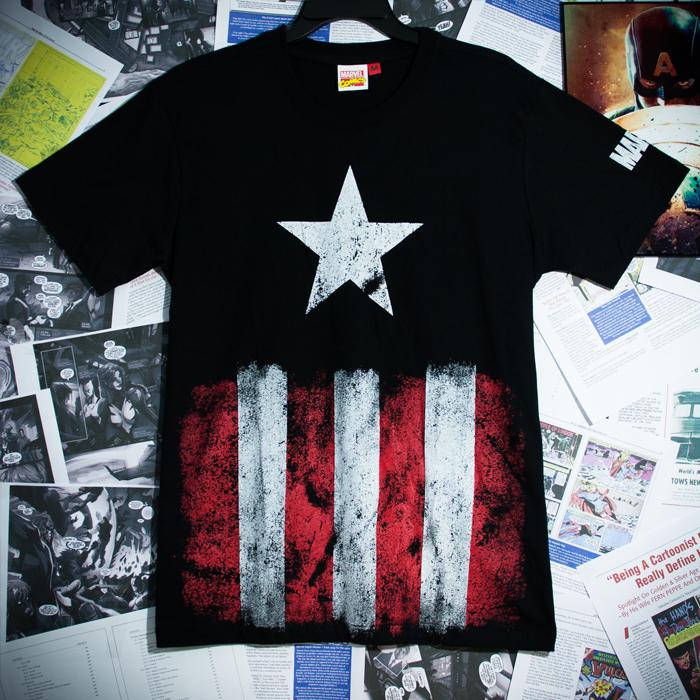 กัปตันอเมริกา สีดำ (Captain america black star CODE:0034)