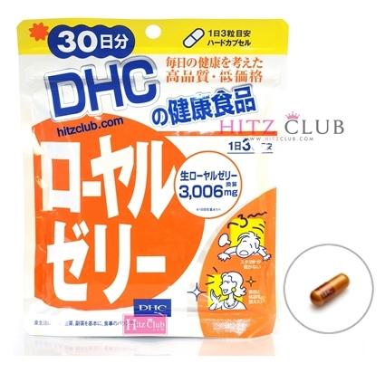 DHC Royal Jelly (30วัน) สกัดจากนมผึ้ง ต้านความเครียด ฟื้นฟูผิวพรรณ บำรุงประสาท ชะลอความแก่ บำรุงร่างกายให้สดใสกระชับกระเฉง ไม่อ่อนเพลีย