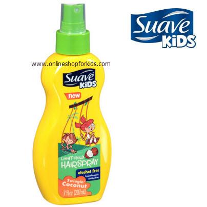สเปรย์ป้องกันผมพันกัน Suave Kids Swingin' Coconut Light-Hold Hairspray 7 fl oz