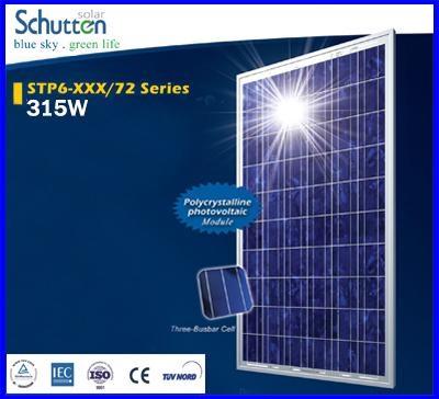แผงโซล่าเซลล์ Schutten Solar Cell Poly crystalline module 315W มาตราฐาน TUV IEC CE แผงโซล่าเซลล์อายุการใช้งานนาน 25ปี เหมาะสำหรับโครงการ solar Rooftop