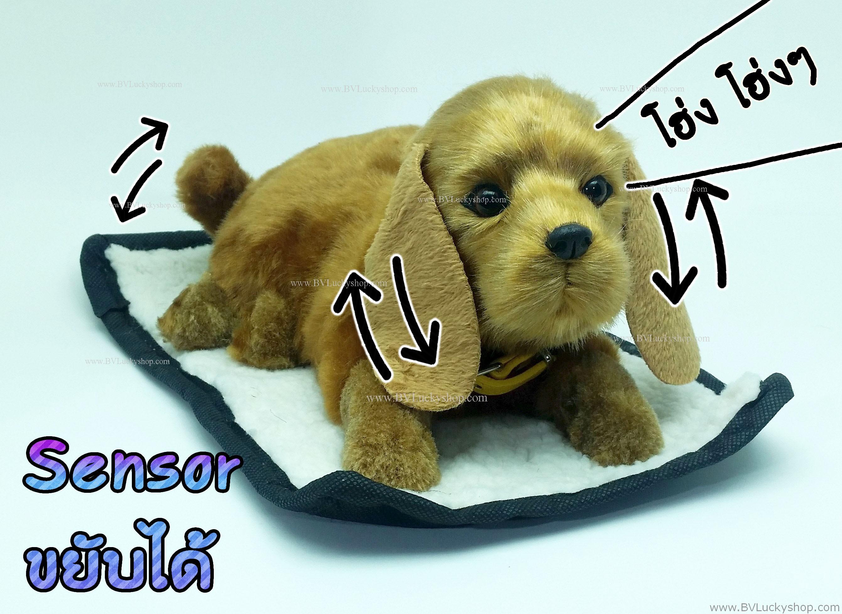 ตุ๊กตาหมา เซ็นเซอร์จับมือผ่าน แล้วส่วนหัวและหางจะเคลื่อนไหว และมีเสียงเห่าด้วย [Dog-SS3]