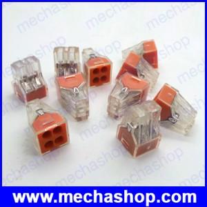 10ชิ้น เทอมินอลบล็อก จังชั่นบล็อก ขั้วต่อสายไฟ เทอมินอลสายไฟ PCT-104 Push wire wiring connector For Junction box 4 pin conductor terminal block