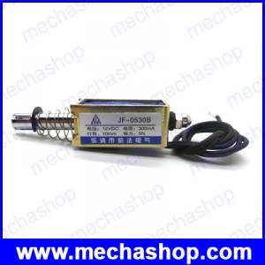 โซลินอยด์แม่เหล็กไฟฟ้า JF-0530B DC12V 10mm 5N Push Type Open Frame Actuator Solenoid Electromagnet