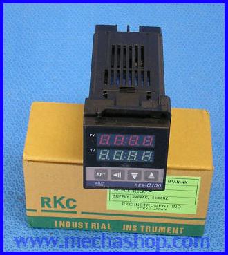 เครื่องวัดอุณหภูมิ เครื่องควบคุมอุณหภูมิ Temperature Controller Type REX-C100FK02-M*AN