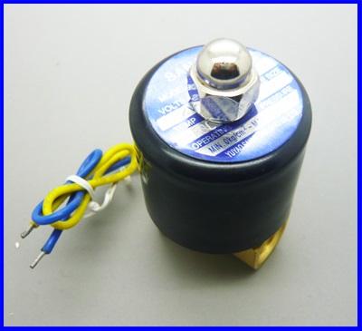 โซลินอยด์วาล์วน้ำ โซลินอยด์ไฟฟ้าปิดเปิดน้ำ ปิดเปิดน้ำมัน วัสดุทองเหลือง Electric Solenoid Valve Water Air N/C 12VDC 1/4