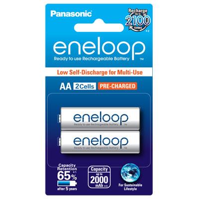 ถ่านชาร์จ Panasonic Eneloop AA แพ็ค 2 ก้อน