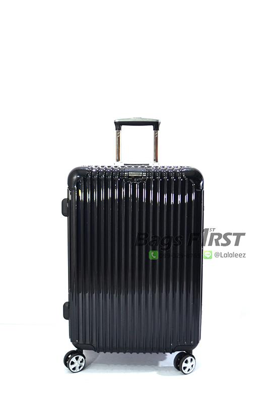 กระเป๋าเดินทางขอบอลูมิเนี่ยม สีดำ รหัส 2189 ไซด์ 25 นิ้ว