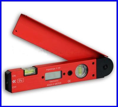 เครื่องมือวัดองศา เครื่องวัดมุม มิเตอร์วัดมุม มิเตอร์วัดองศาดิจิตอล พร้อมระดับน้ำ2ระดับ Digital Angle Finder Meter Protractor 2 Spirit Levels