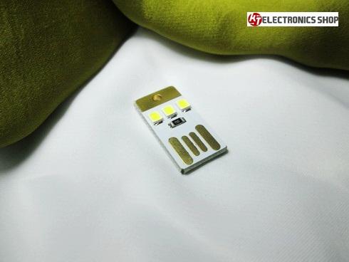 หลอด LED USB ขนาดเล็ก สีขาว