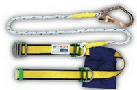 เข็มขัดกันตก แบบครึ่งตัว เชือกเซฟตี้ 1 เส้น 1 ตะขอใหญ่ Yamada NP-737B, W737B (Half Body Harnesses with Lanyard Big Hook )
