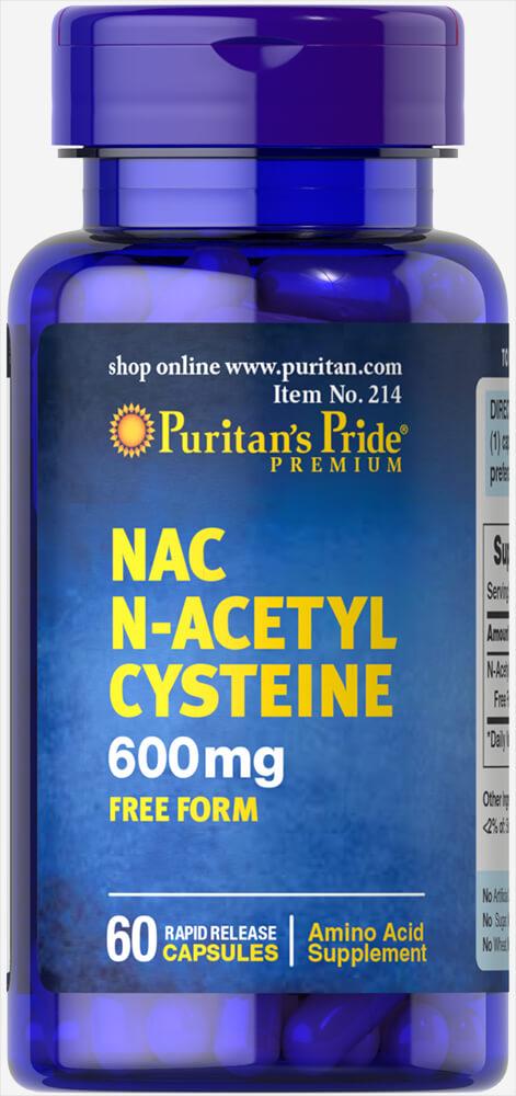 Puritan's Pride N-acetyl Cysteine (NAC) 600 mg. 60 เม็ด วิตามินต้านอนุมูลอิสระและส่งเสริมการทำงานของตับค่ะ