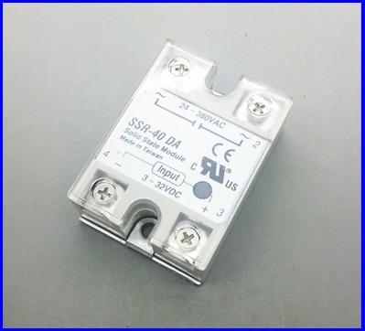 โซลิดสเตตรีเลย์ 40A solid state relay SSR-40DA 40A actually 3-32VDC TO 24-380VAC