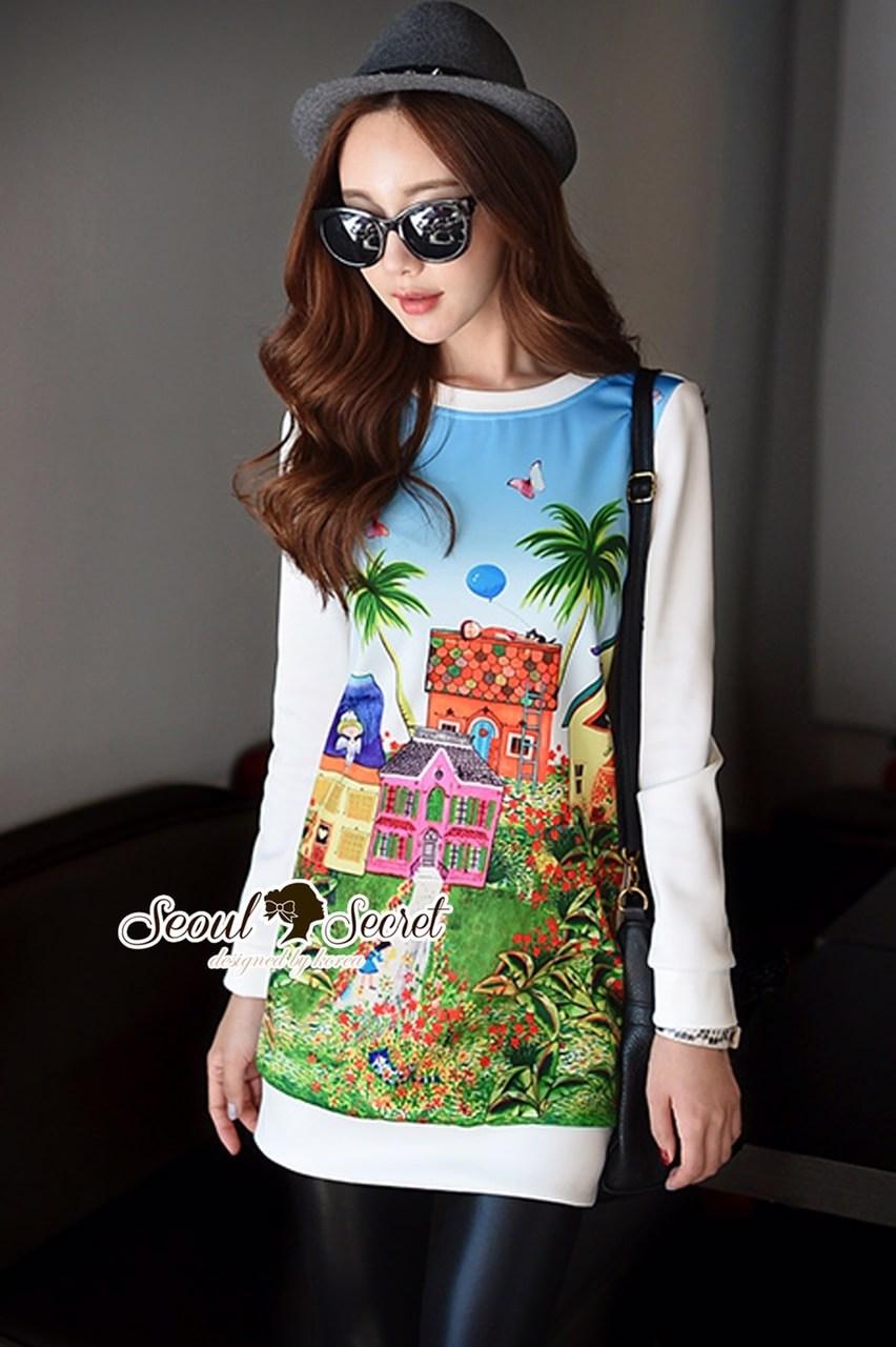 Fairy's Land Color Print Dress