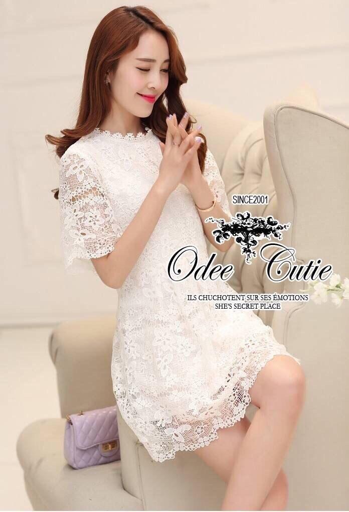 Charming girl ivory dress