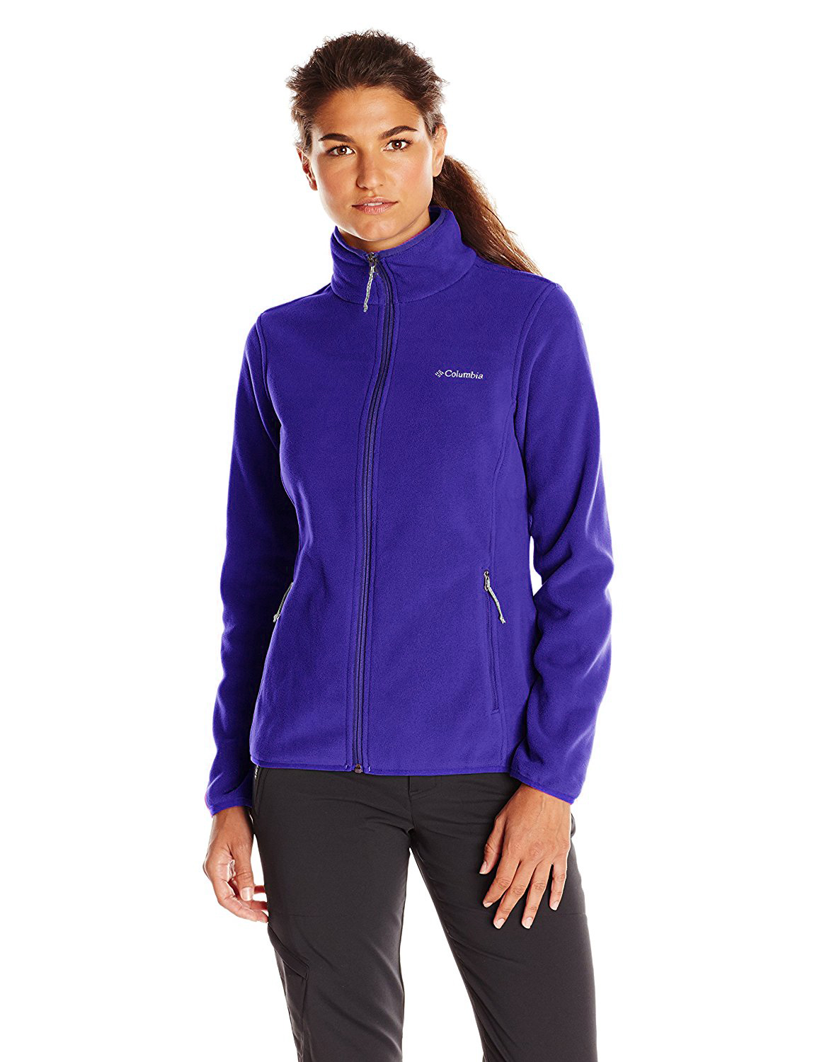 Columbia Women's Adventure Ridge Full Zip Fleece Jacket สำหรับอุณหภูมิ 7 ถึง 10 องศา - Light Grape
