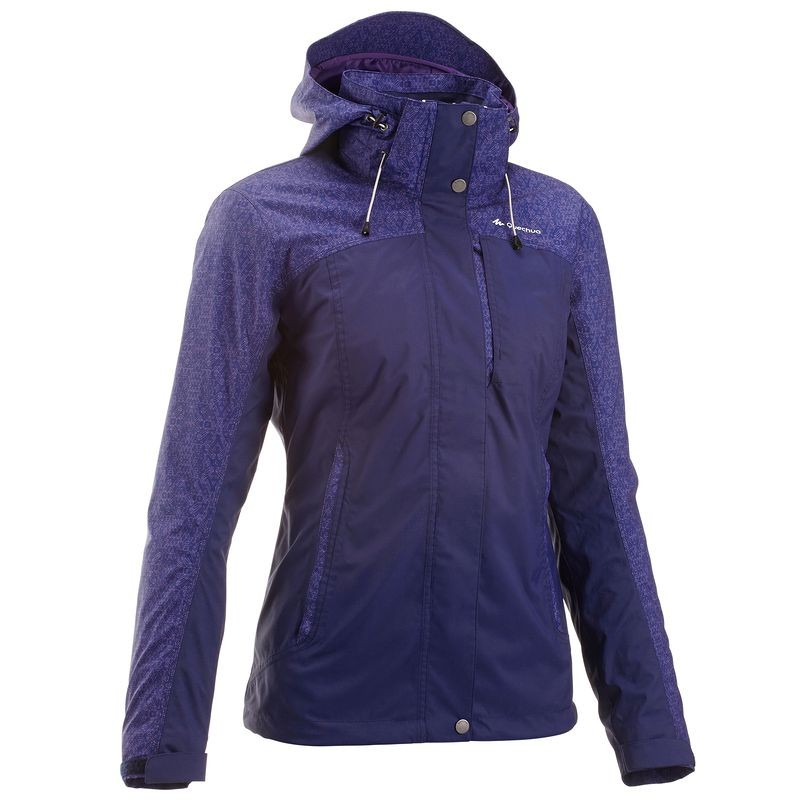 QUECHUA Women's Waterproof Jacket (Purple)